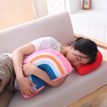 Rainbow plush Pillow baby Toys super Soft Decorative Stuffed Cushion Cartoon  Decorate Room Decor christmas gifts friends gifts