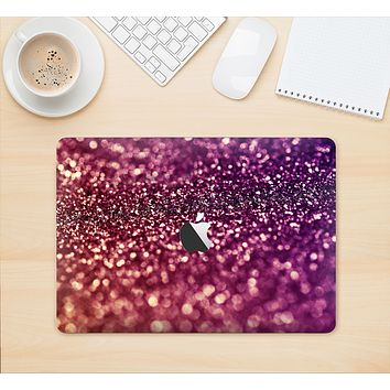 "The Unfocused Purple & Pink Glimmer Skin Kit for the 12"" Apple MacBook"