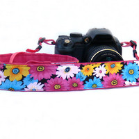 Floral Camera Strap. dSLR Camera Strap. Summer Camera Strap. Women Accessories.