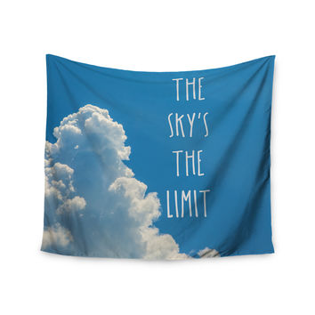 """Bruce Stanfield """"The Skys The Limit Square"""" Typography Nature Wall Tapestry"""