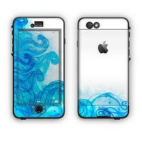 The Blue Water Color Flowers Apple iPhone 6 Plus LifeProof Nuud Case Skin Set