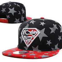 Unisex Superman Cartoon Hip Hop Flat-bill Hats Snapback Hiphop Baseball Caps (3#)