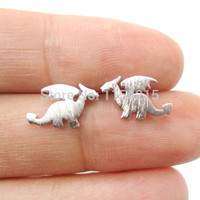 2016 New Arrival Hot  Small Dragon Silhouette with Wings Animal Shaped Stud Earrings for Women  Handmade Animal Jewelry EY-E077