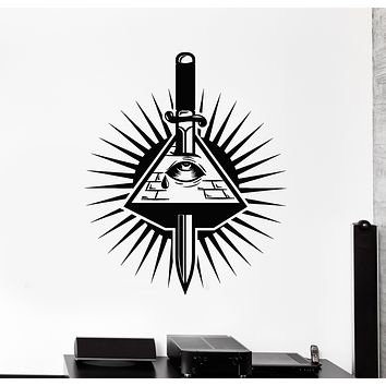 Vinyl Wall Decal Eye Of Providence Masons Illuminati Stickers Mural (g209)