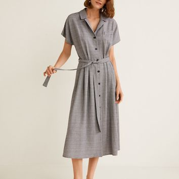 Gingham check dress - Women | MANGO United Kingdom