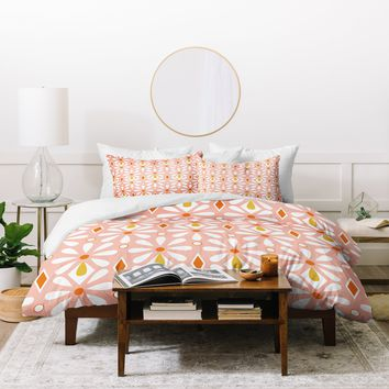 Heather Dutton Fleurette Radiant Duvet Cover