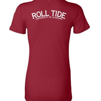 Official NCAA Venley University of Alabama Crimson Tide UA ROLL TIDE! Ladies Favorite Tee - 35AL-2