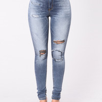 The City Is Mine Jeans - Dark Blue
