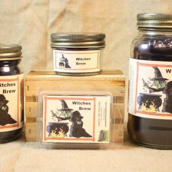 Witches Brew Candles and Wax Melts, Beverage Scent Candle, Highly Scented Candles and Wax Tarts, Halloween Candle, Fall Scented Candle