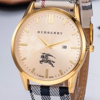 Burberry tide brand personality wild men and women models quartz watch #5