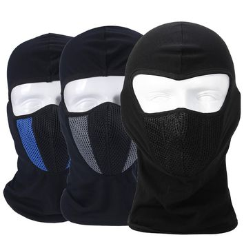Windproof Breathable Balaclava Ninja Tactical Motorcycle Airsoft Paintball Hats Ninja Helmet Full Face Mask Dust-proof