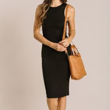 Liza Fitted Midi Dress