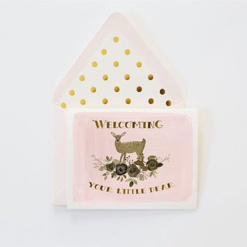 THE FIRST SNOW WELCOME LITTLE DEAR CARD