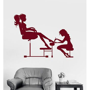 Vinyl Wall Decal Nail Salon Beauty Spa for Woman Girl Stickers Unique Gift (ig3152)