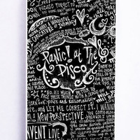 Panic At The Disco Lyric Quotes Black for Iphone 5C Hard Cover Plastic