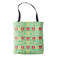 Squares and Bows Tote Bag