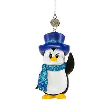 SeaWorld Penguin with Top Hat Christmas Ornament New with Tag