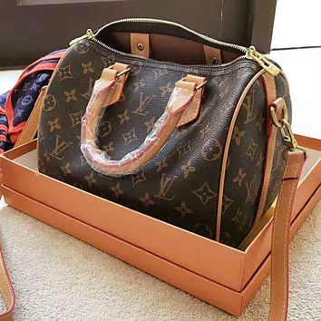 LV Louis Vuitton High Quality Fashionable Women Monogram Leather Handbag Crossbody Satchel Shoulder Bag