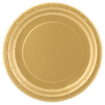 Bulk Dark Gold Metallic Paper Party Plates, 7-in., 24-ct. Packs at DollarTree.com