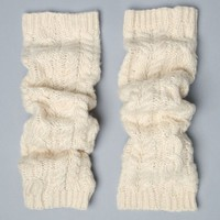 LEMON LEGWEAR Cable Knit Leg Warmers - Womens Scarves - White - One