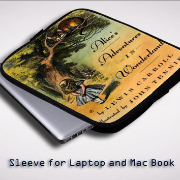 Alice in Wonderland Cover Sleeve for Laptop, Macbook Pro, Macbook Air (Twin Sides)
