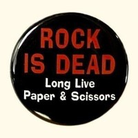Rock Is Dead Button Pin by theangryrobot on Etsy