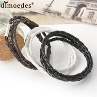 Chanel Leather Handmade Round Rope Charm Bracelet