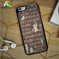 Winnie The Pooh Quotes 4 iPhone 6S Case by Avallen