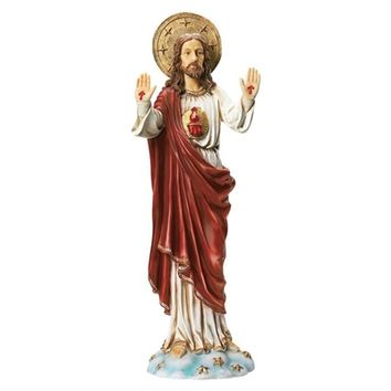 SheilaShrubs.com: Sacred Heart of Jesus Italian-Style Garden Statue KY913 by Design Toscano: Garden Sculptures & Statues