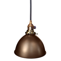 """Factory 7 1/16"""" Metal Shade Oil Rubbed Bronze Pendant Light"""