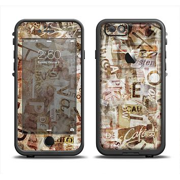 The Faded Torn Newspaper Letter Collage Apple iPhone 6 LifeProof Fre Case Skin Set