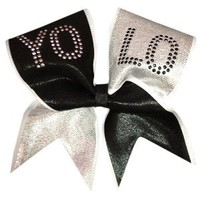 YOLO-Platinum Cheer Bow