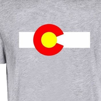 Colorado State Flag Crew T-Shirt Men Tee