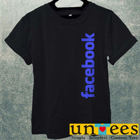 Low Price Men's Adult T-Shirt - Facebook Logo design