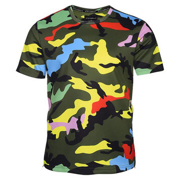 Camouflage T-shirt Men/Women Zipper Tshirts 3d T shirt Army Fashion Tops Tees Summer Shirts Hombres