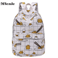MTENLE Hottest Lazy Egg Printed Kids Backpacks Cartoon Yellow Gudetama Lazy Egg School Bags B H