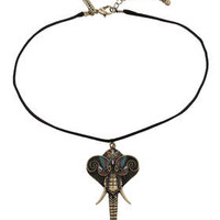 Elephant Choker - Black