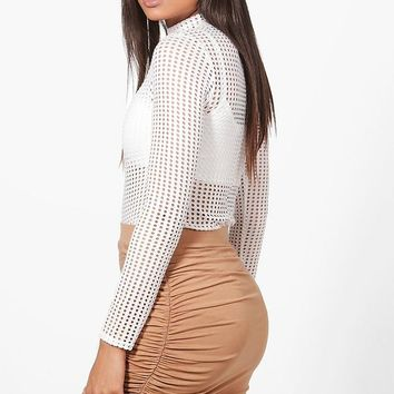 Esme Rouched Side Jersey Mini Skirt | Boohoo