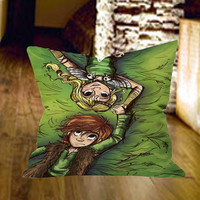 How To Train Your Dragon Hiccup and Astrid Pillow Cover by wongsshop