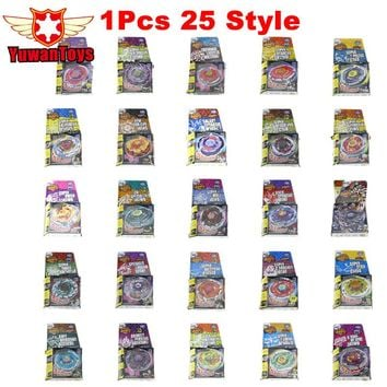 1Pcs 25 style Beyblade Metal Fusion 4D Without Launcher System Battle Top Metal Fury Masters with Launcher BB122 BB108  BB105
