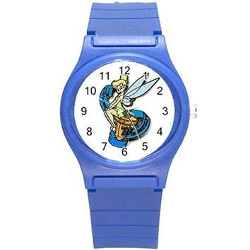 Tinkerbell Hannukah / Chanukah on a Girls Blue Plastic Watch