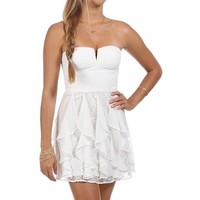 Bridgit-Ivory Short Homecoming Dress