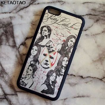 KETAOTAO Pretty Little Liars TV Phone Cases for iPhone 4S 5C 5S 6S 7 8 Plus XR XS Max for X S8 6 Case Soft TPU Rubber Silicone