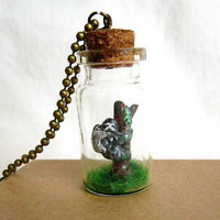 Sloth necklace, Mama and Baby sloth into a bottle necklace.