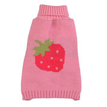 New Winter Pet Dog Clothes Kniiting Pajamas Dog Sweaters Minions Costume Strawberry Pets Jumpsuit Clothing for Puppy Dogs