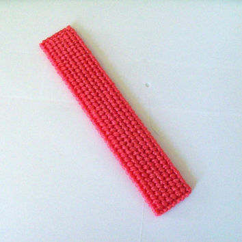 Plastic Canvas Bookmark--watermelon