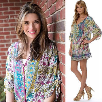 Summer Style Women Vintage Ethnic Dress Floral Print Casual Beach Shift Dress Hippie Dress Vestido plus size 63
