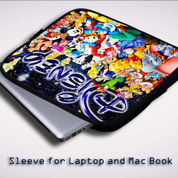 Disney Character Collage Princess Z0573 Sleeve for Laptop, Macbook Pro, Macbook Air (Twin Sides)