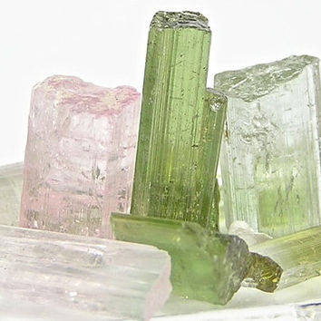 Colorful Tourmaline Gemstone Rough Crystal Points Stone Sticks 35 carats