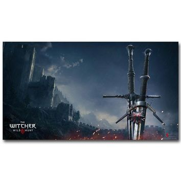 The Sword of Witcher 3 Wild Hunt Prints And Posters Wall Art Canvas Painting Hot Game Yennefer Pictures For Living Room Decor